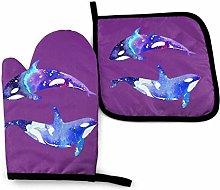 Lawenp Orca Killer Whale Cotton Kitchen Oven Mitt
