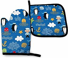 Lawenp Penguin Turtle Cotton Kitchen Oven Mitt