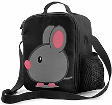 Lawenp Pink Mouse Insulated Lunch Bag, Leakproof