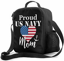 Lawenp Proud Us Navy Mom Insulated Lunch Bag,