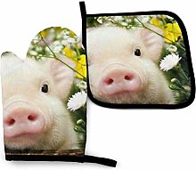 Lawenp Rape Flower Pig Cotton Kitchen Oven Mitt