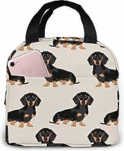 Lawenp Sausage Dog Lunch Bag for Women Girls