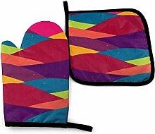 Lawenp Waving Template Colorful Curves Cotton
