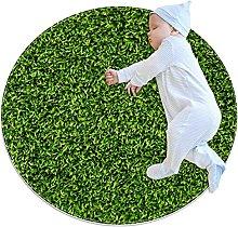 lawn, Kids Nursery Rug Play Mat Round Carpet