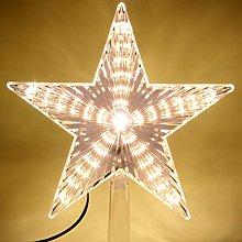 LAWOHO Christmas Tree Topper Star 8.7 Inch Warm