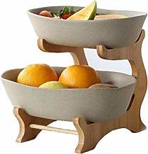 LAYG-Fruit Bowls Fruit Basket Storage Bowl,2 Tier