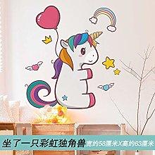 Layout Background Wall Decoration Cartoon Unicorn