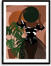 Layover Art - 'Beach Day' Framed Print,