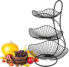 LAZAJ 3-Tier Fruit Basket Stand Fruit Bowl Holder