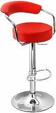 Lazio Adjustable Bar Stool Red