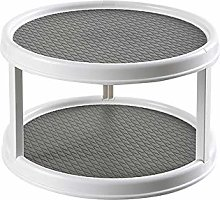 Lazy Susan Turntable 12-Inch Two-Tier Non-Slip