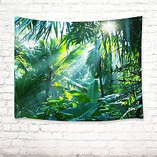 LB Tropical palm leaf green picture print wall