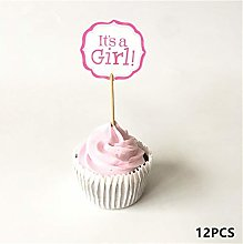 LBDH 12/18/20pcs Baby Shower Cupcake Toppers Boy