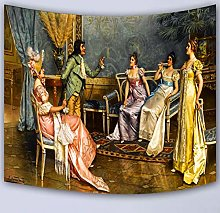 LBHHH European Palace Royal Oil Painting Tapestry,