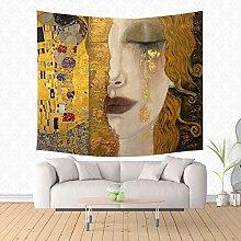 LBHHH Gustav Klimt Painting Tapestry Hippie Home