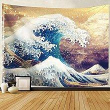 LBHHH Psychedelic Tapestryjapan Kanagawa Waves