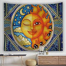 LBHHH Psychedelic Tarot Sun Moon Tapestry Wall