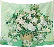 LBHHH Van Gogh Oil Painting Tapestry, Headboard