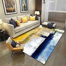 LBMTFFFFFF Living Room Carpet,Modern Abstract Blue