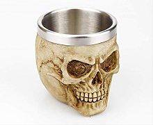 LBSST Stainless Steel Skull Mug Skeleton Beer Cup