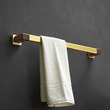LBSY Black Walnut Towel Rack Wall Mounted Towel