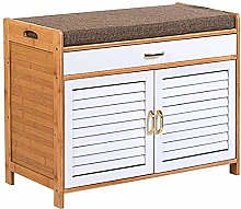 LBWARMB Shoes Storage 2 Tier Small Shoe Cabinet