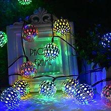 LCCDSD outside lights 10/20 LED Moroccan Ball