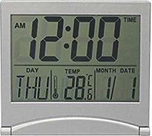 LCD Digital Alarm Clock Desk Table Weather Desk