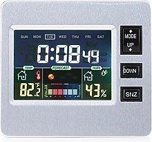 LCD Digital Alarm Clock Weather Forecast Clock