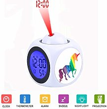 LCD Digital LED Projection Alarm Clock Talking
