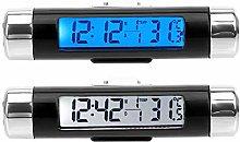 LCD Display Screen 3 in 1 Car Ornaments Clock
