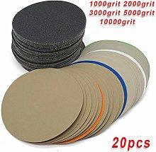LCDIEB Sandpaper 20pcs Sanding Discs Hook Loop Wet
