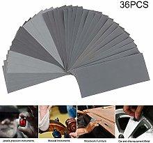 LCDIEB Sandpaper 36pcs/Set Sandpaper Waterproof