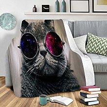 LCFF Throw Blanket Printed 3D Blanket Cat Sofa