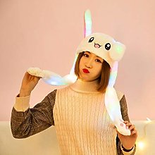 LCK Cute Rabbit Ears Plush Ears Can Move Cap Baby