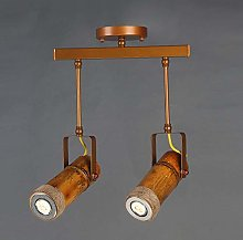LCSD chandelier Brown Creative Track Light Bamboo