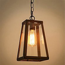 LCSD chandelier Retro Hanging Lamp Glass Box