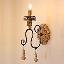 LCSD Wall Lights Country Wood Wall Lamp Artistic