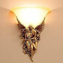 LCSD Wall Lights European Bedroom Bedside Lamp
