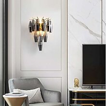 LCSD Wall Lights Gray Crystal Pendant Wall Lamp 35