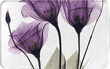 LDHHZ Purple Flowers Welcome Door Mat Indoor