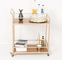 LDL 2-Tier Iron Art and Wood Serving Wine Cart -