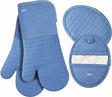 LDTEA Oven Mitts and Pot Holders Sets, 600°F Heat
