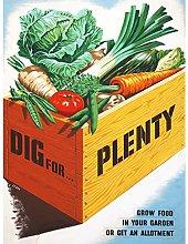 Le Bon Dig Plenty Vegetables UK WWII Food Advert