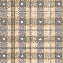 Le Chateau Oil Cloth Table Linen Per Metre Grey