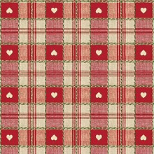 Le Chateau Oil Cloth Table Linen Per Metre Red
