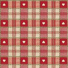 Le Chateau Oil Cloth Table Linen Per Metre Red