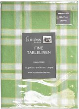 Le Chateau Yarn Dyed Woven Green Table Cloths