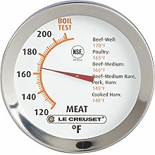 LE CREUSET 98100200000100 Meat Thermometer, 18/8