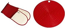 Le Creuset Textiles Double Oven Glove - Red with